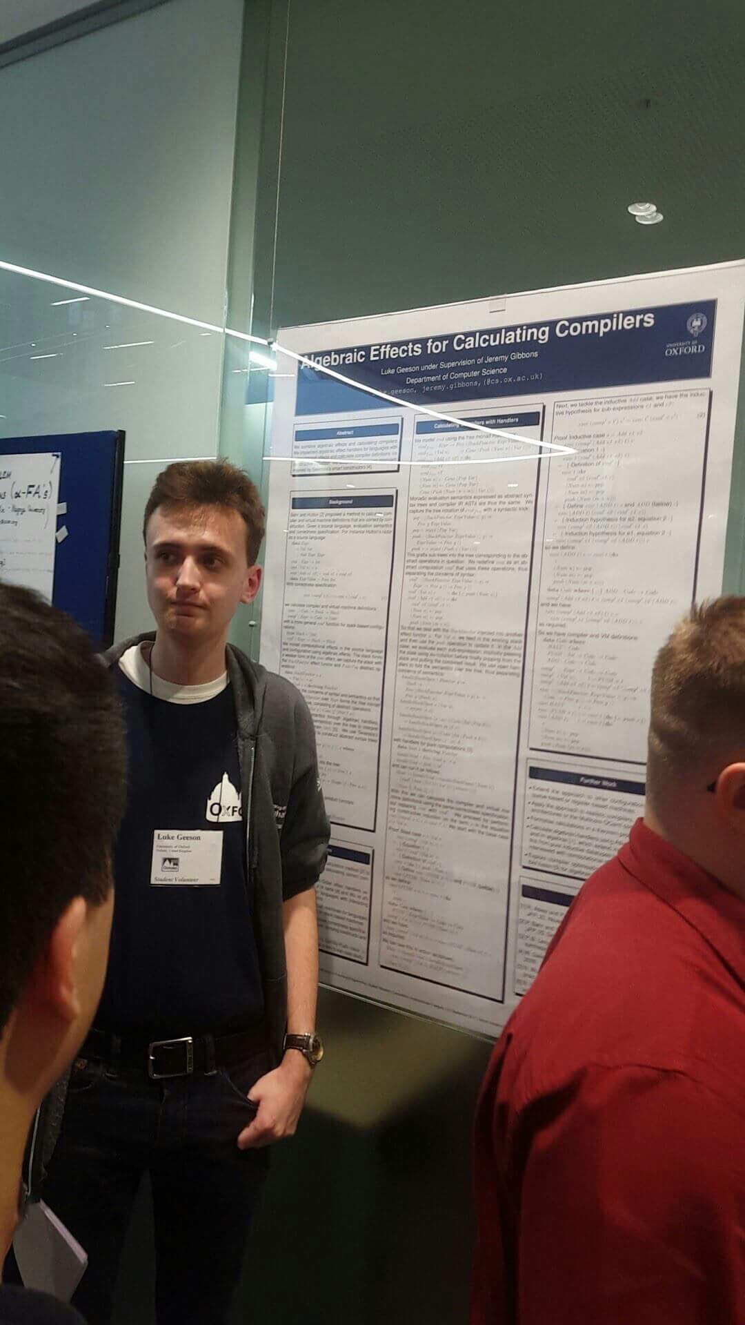 Me presenting at the ICFP Student Research Competition on the first day of ICFP
